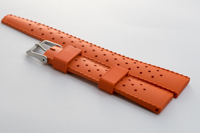 Borealis Vulcanized Tropic Style Strap 20mm Boavista Orange - Best Offer in Market for Diver Watches