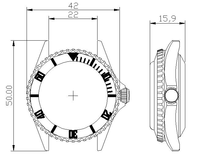 Borealis Sea Hawk 1500m Automatic Diver Watch Seiko NH36 / 4R36 Ceramic Bezel Technical Details