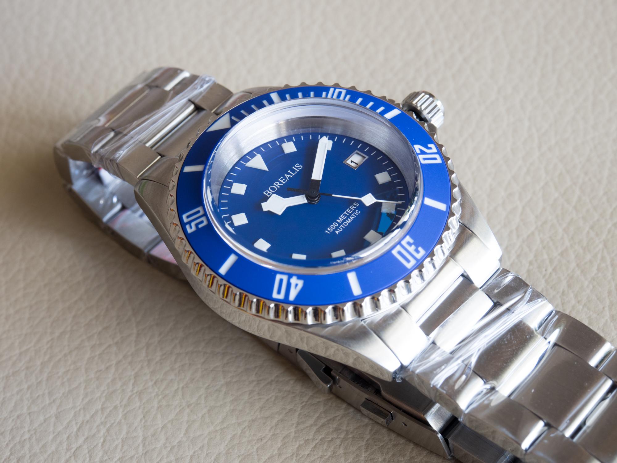 Borealis Sea Hawk 1500m Automatic Diver Watch Seiko NH36 / 4R36 Ceramic Blue Bezel Blue Dial BSH1500BLUE
