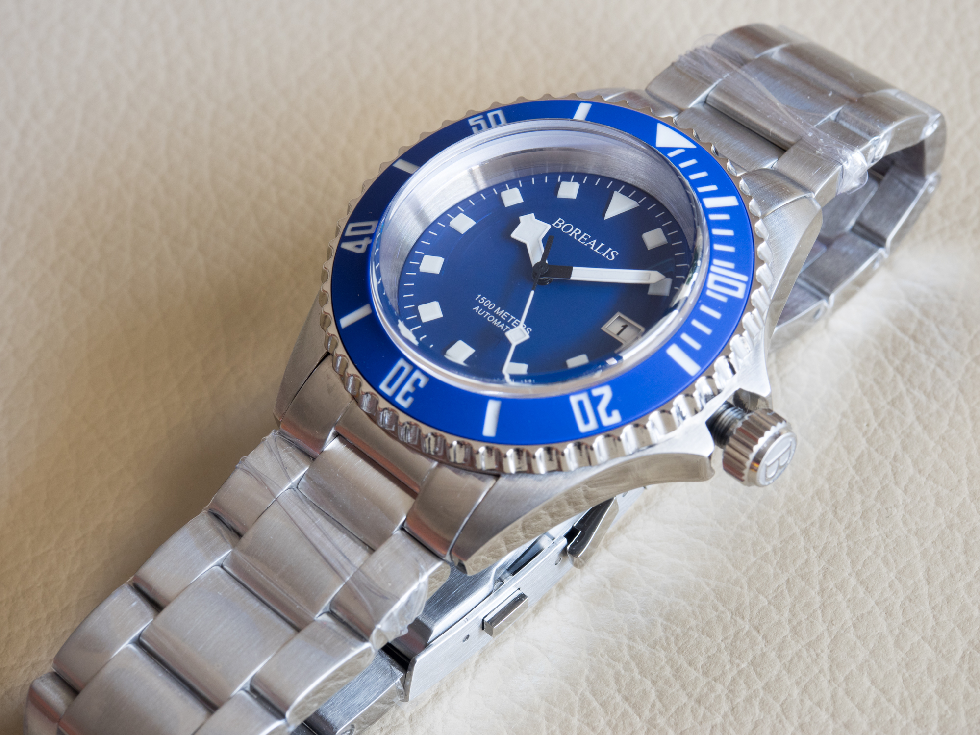 Borealis Sea Hawk 1500m Automatic Diver Watch Seiko NH36 / 4R36 Ceramic Blue Bezel Blue Dial