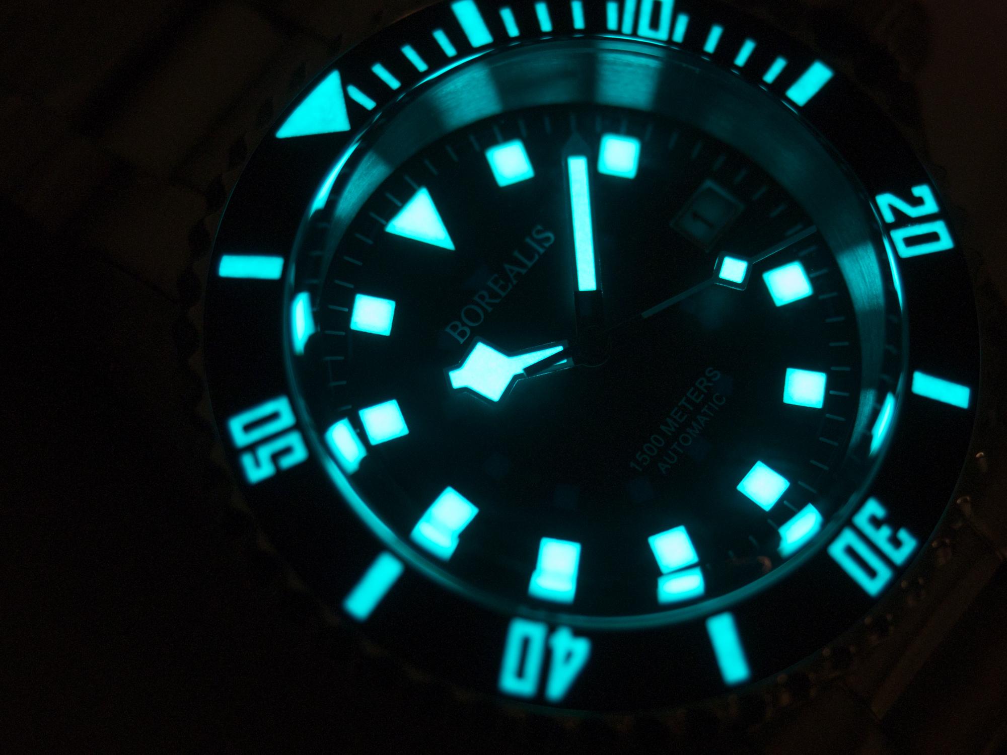 Borealis Sea Hawk 1500m Automatic Diver Watch Seiko NH36 / 4R36 Ceramic Blue Bezel Blue Dial Lume