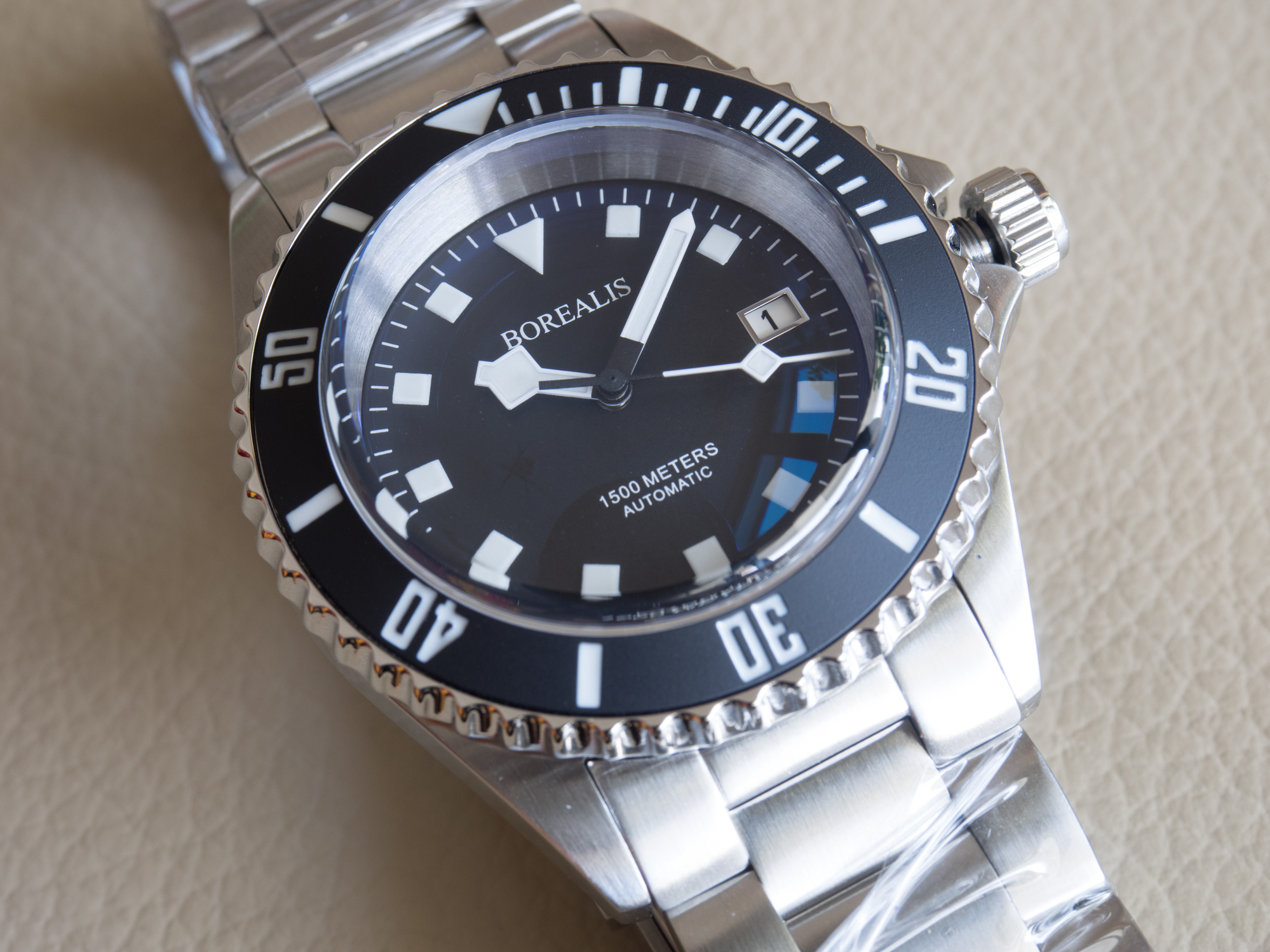 Borealis Sea Hawk 1500m Automatic Diver Watch Seiko NH36 / 4R36 Ceramic Black Bezel Black Dial BSH1500BLACK