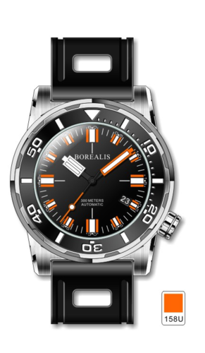 Borealis Sea Dragon Black Dial Miyota 9015 Automatic Diver Watch 300m BSDBA