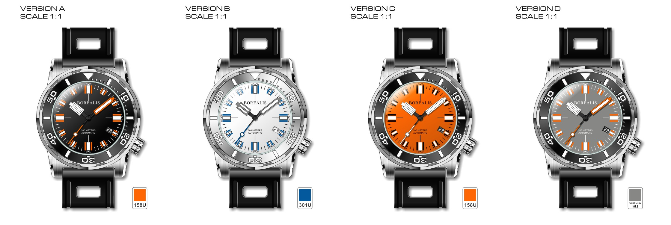 Borealis Sea Dragon Collection Miyota 9015 Diver Watch