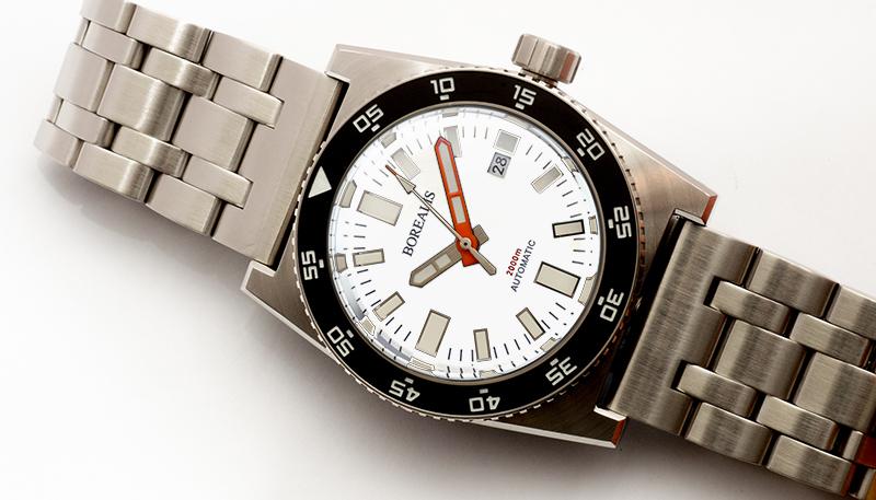 Borealis Scorpionfish White Dial Modern Hands BSFWDM
