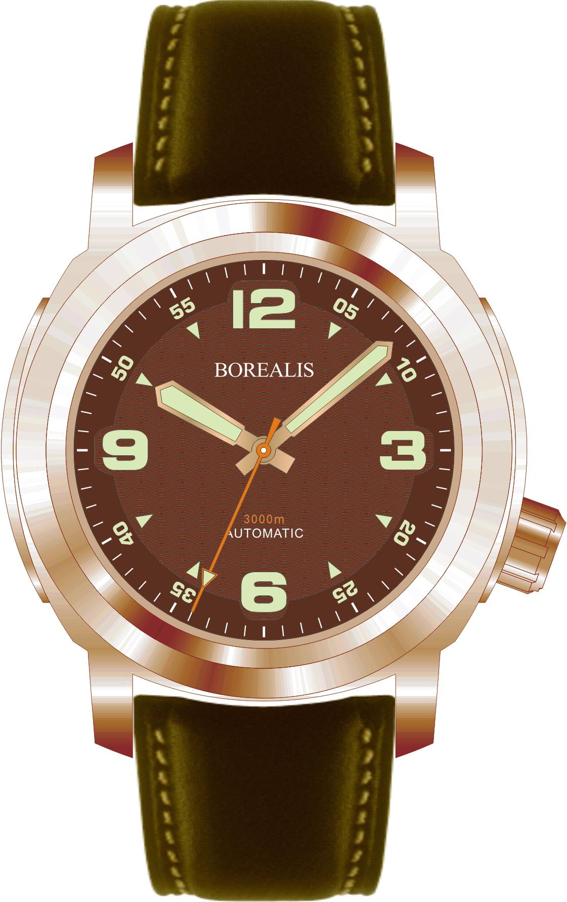 Borealis Batial Bronze CuSn8 Brown 3000m Miyota 9015 Automatic Diver Watch No Date Display BBCUSN8BROWNNODATE