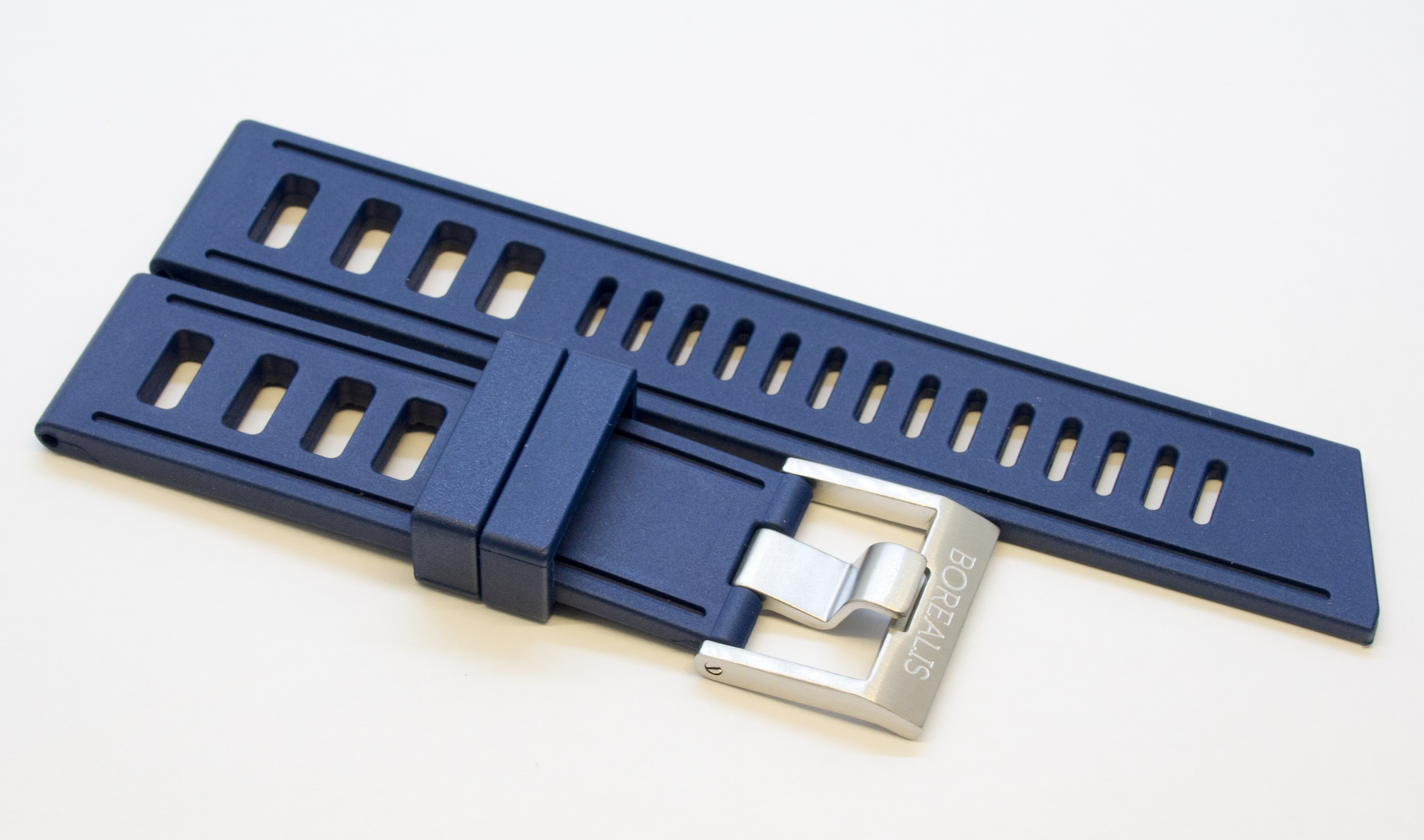 Borealis Vulcanized Rubber Strap 22mm Blue - Best Offer in Market for Diver Watches BRSBLUE22