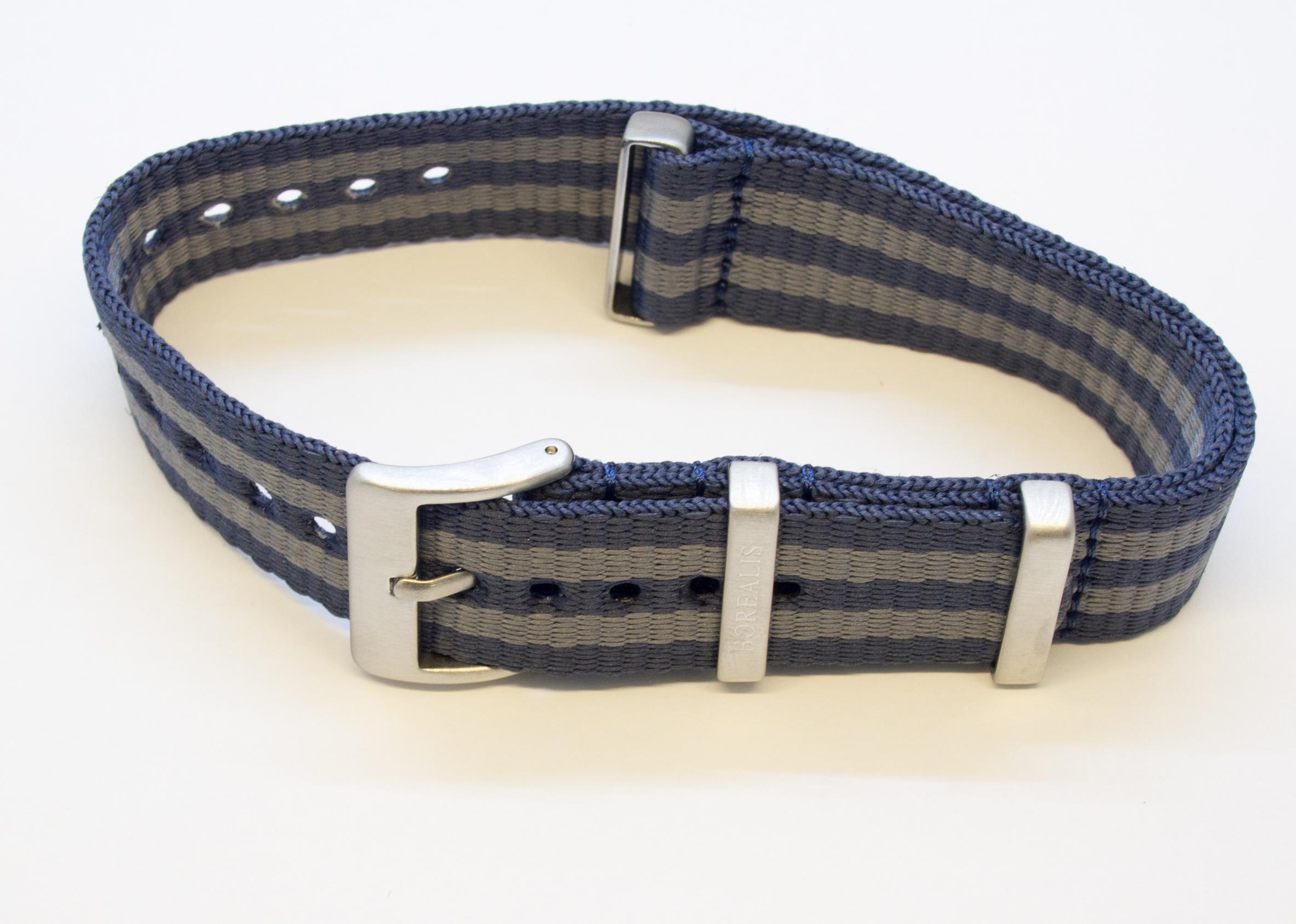 Borealis Nato Style Premium Nylon Strap 20mm Blue Grey