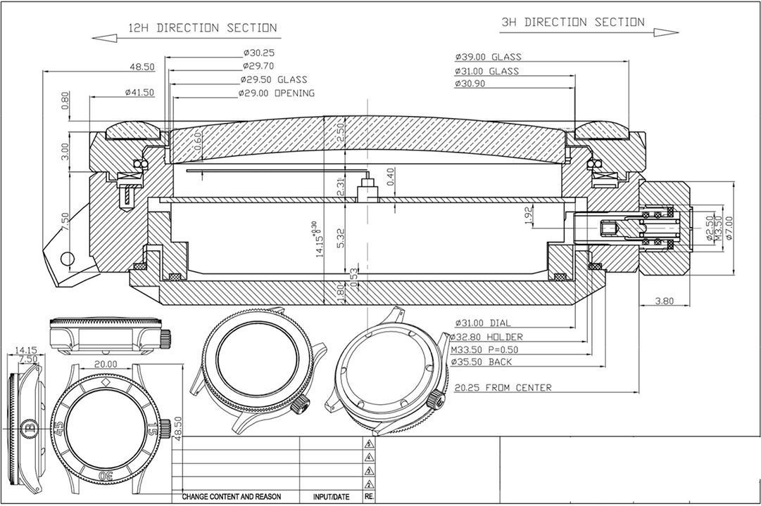 Borealis Sea Storm Technical Drawing