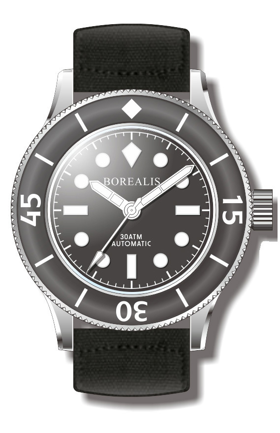 Borealis Sea Storm Version A No Date BGW9 Lume
