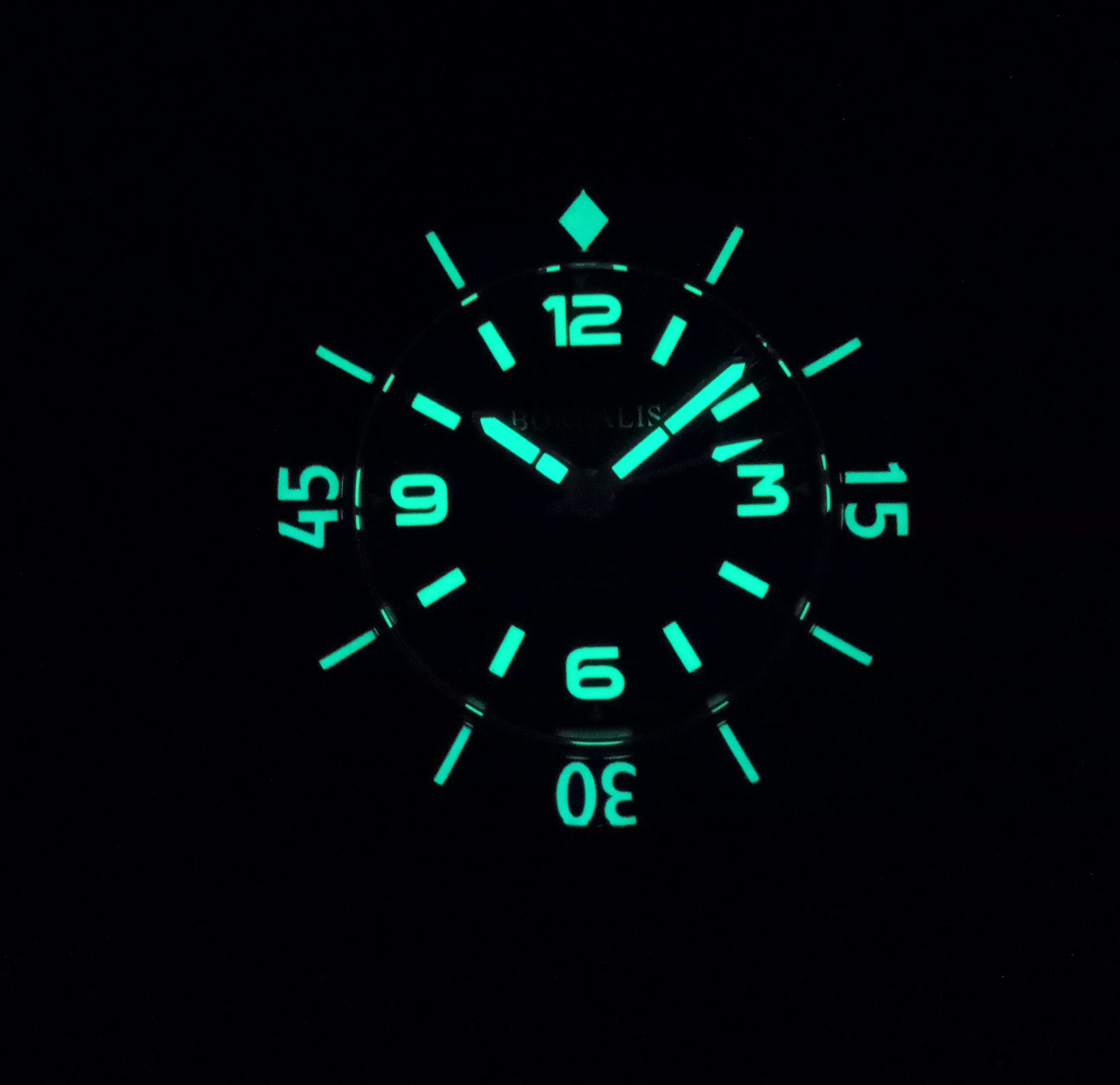 Borealis Sea Storm Version C No Date Old Radium Lume