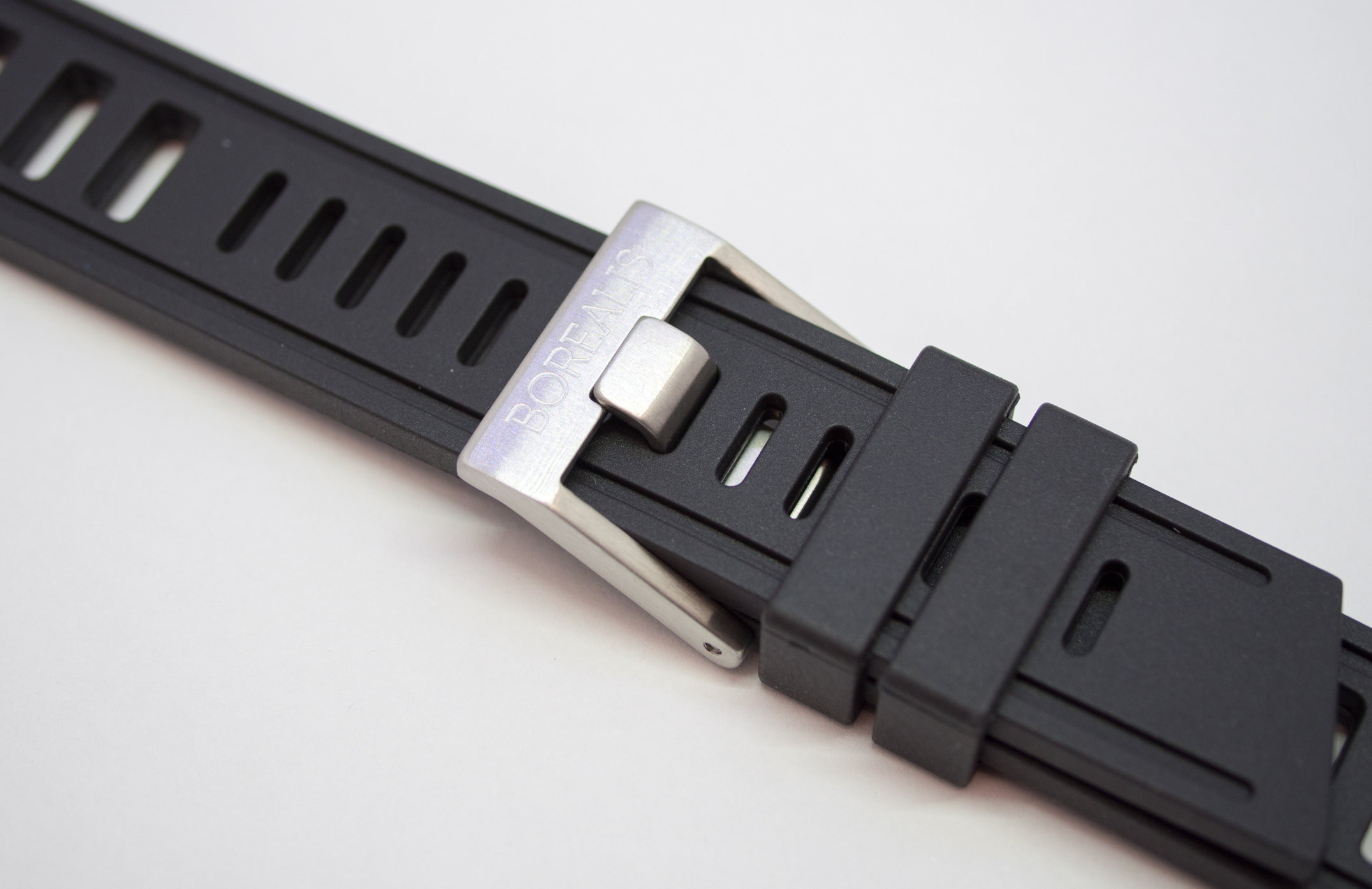 Borealis Rubber Strap 20mm Black