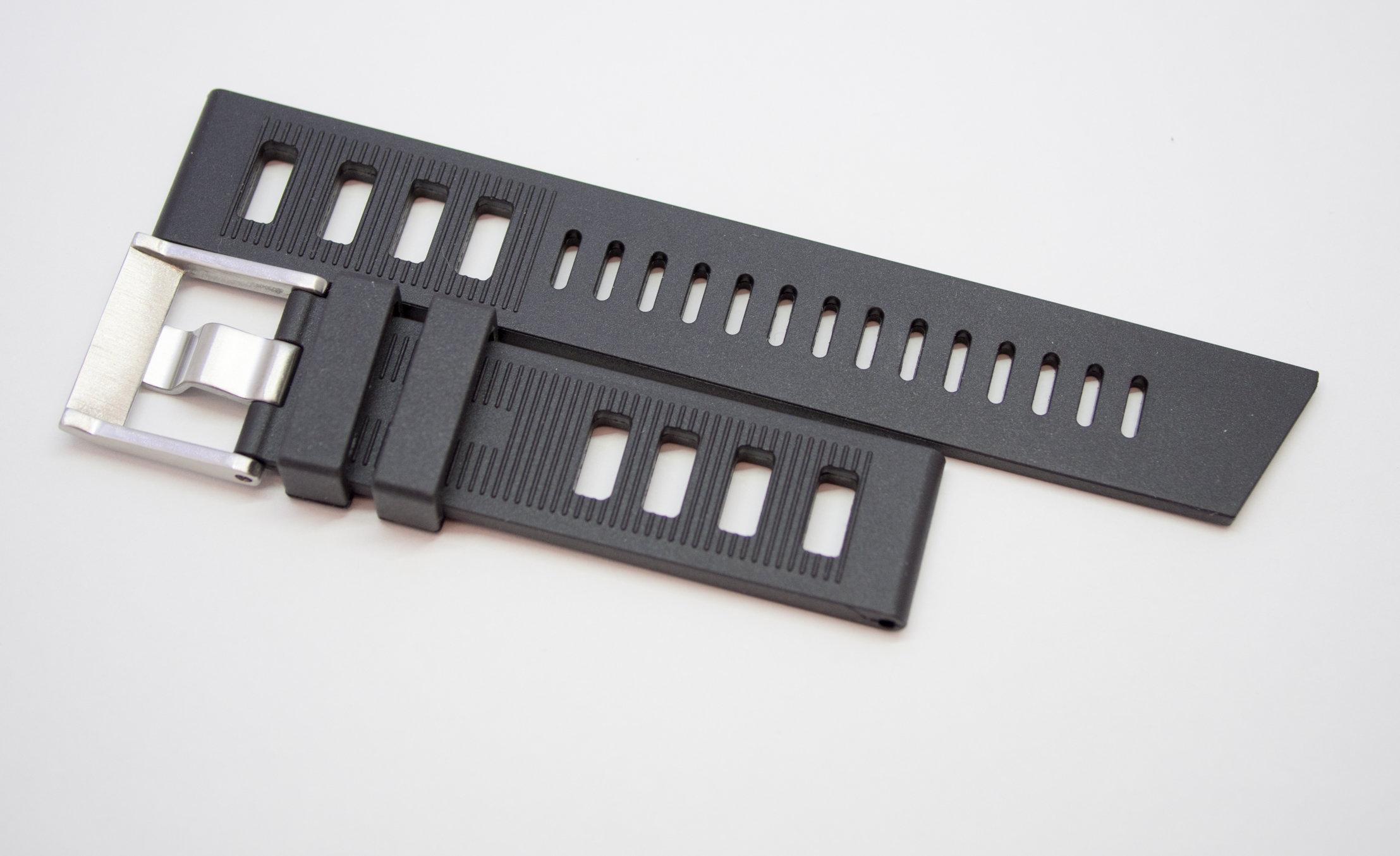 Borealis Rubber Strap 20mm Black