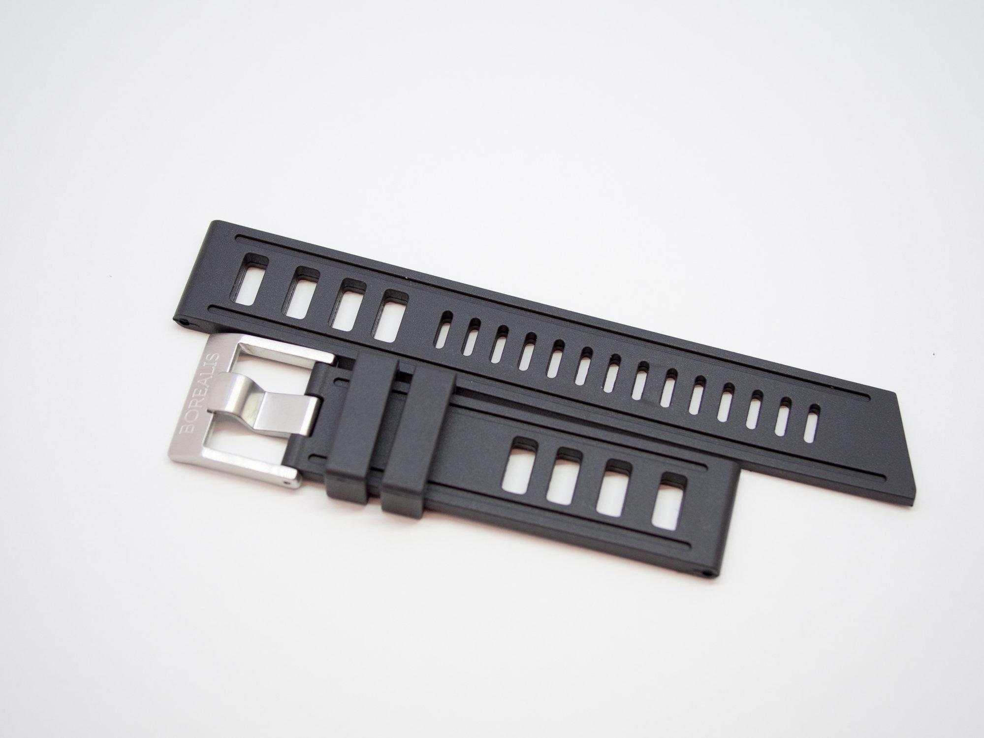 Borealis Vulcanized Rubber Strap 20mm Black - Best Offer in Market for Diver Watches BRSBLACK20