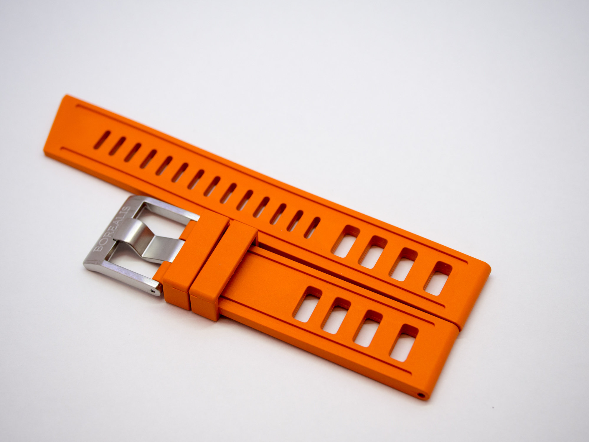 Borealis Vulcanized Rubber Strap 20mm Orange - Best Offer in Market for Diver Watches BRSORANGE20
