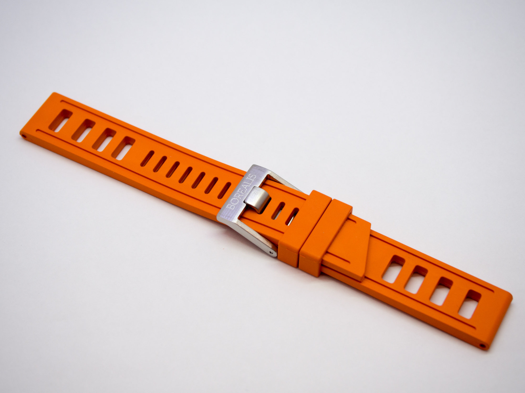 Borealis Rubber Strap 20mm Orange
