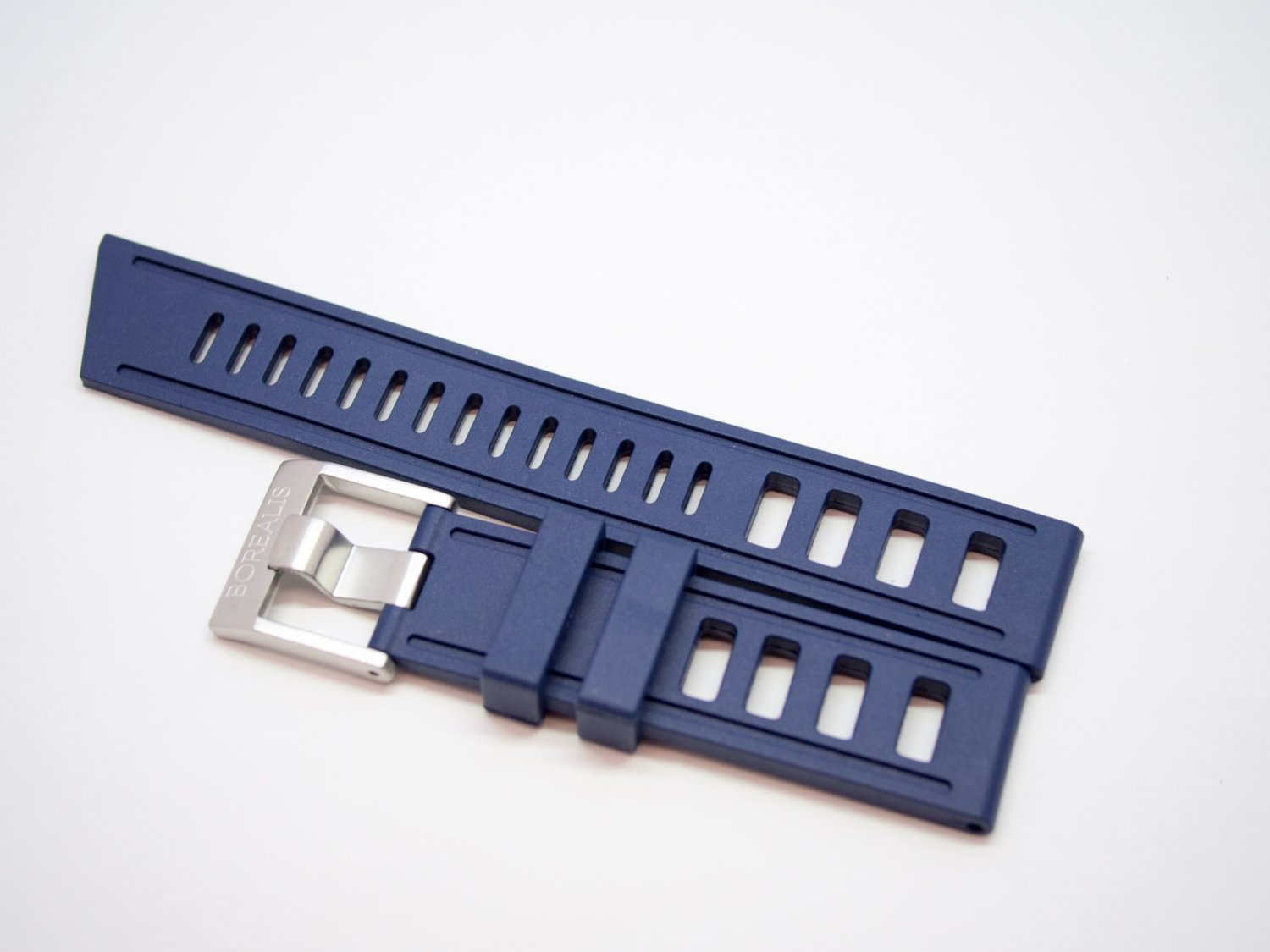 Borealis Vulcanized Rubber Strap 20mm Blue - Best Offer in Market for Diver Watches