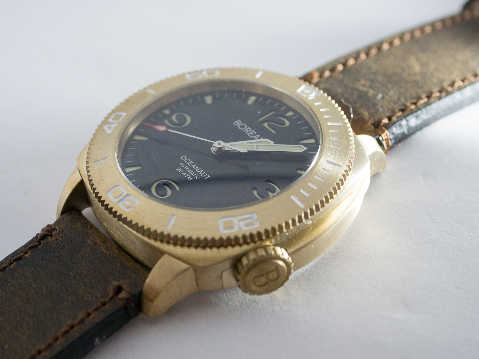 Borealis Oceanaut Aluminum Bronze Black No Date 200m NH35 Automatic Diver Watch
