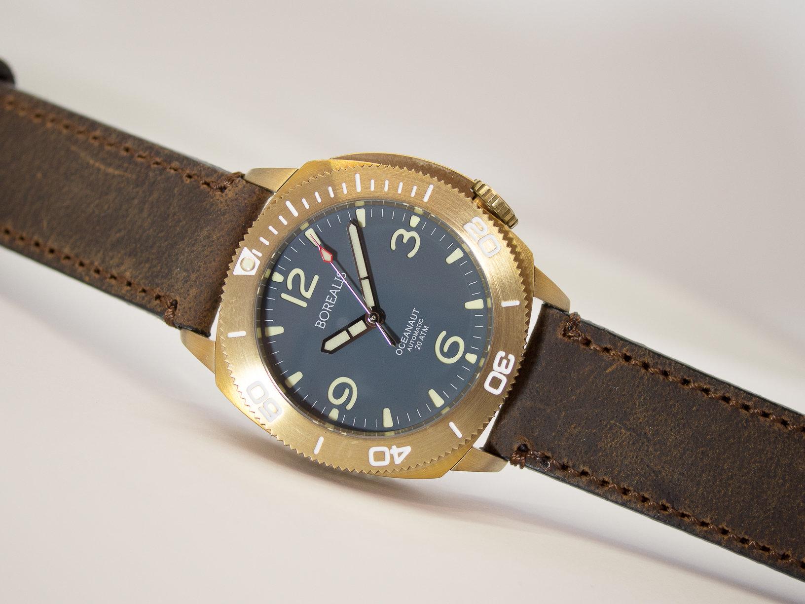 Borealis Oceanaut Aluminum Bronze Teal Blue No Date 200m NH35 Automatic Diver Watch BOCEANAUTBLUENODT