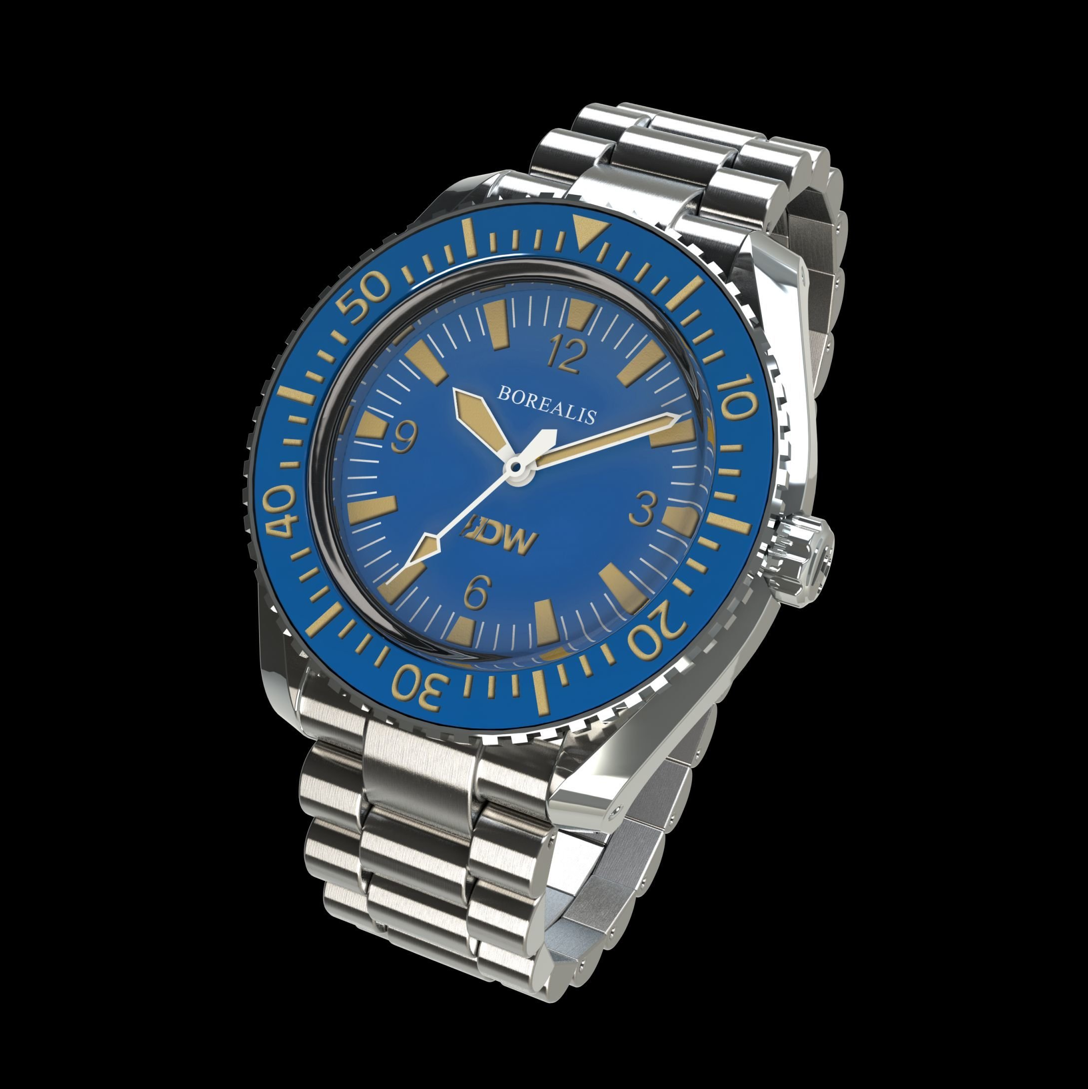 Pre-Order Borealis Estoril 300 for Diver's Watches Facebook Group Blue Dial Arabic Numbers No Date Blue B2 No Date