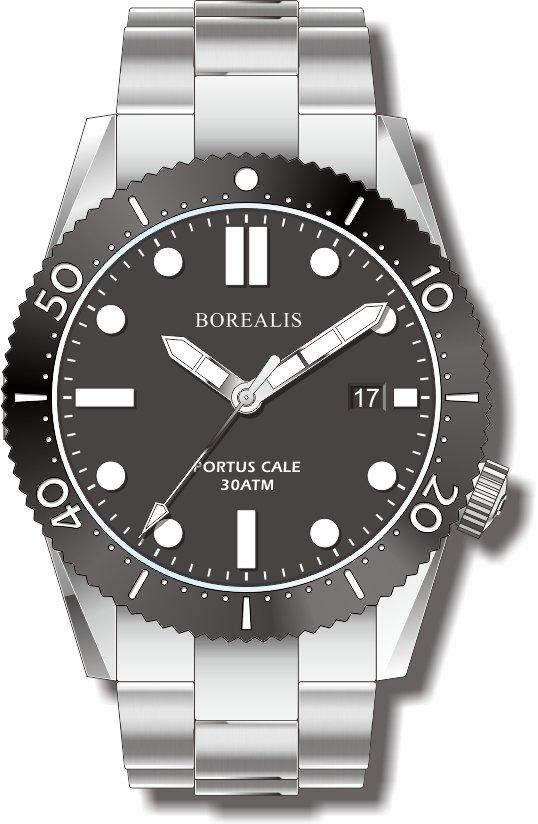 Pre-Order Borealis Portus Cale Black Version A Dial SLWL Date