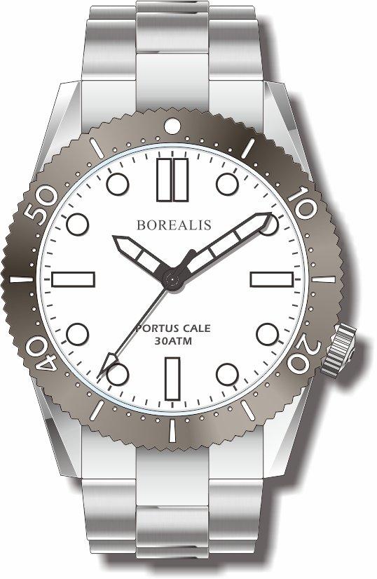 Pre-Order Borealis Portus Cale White Version A1 Dial SLWL No Date BPCWHITEBA1ND
