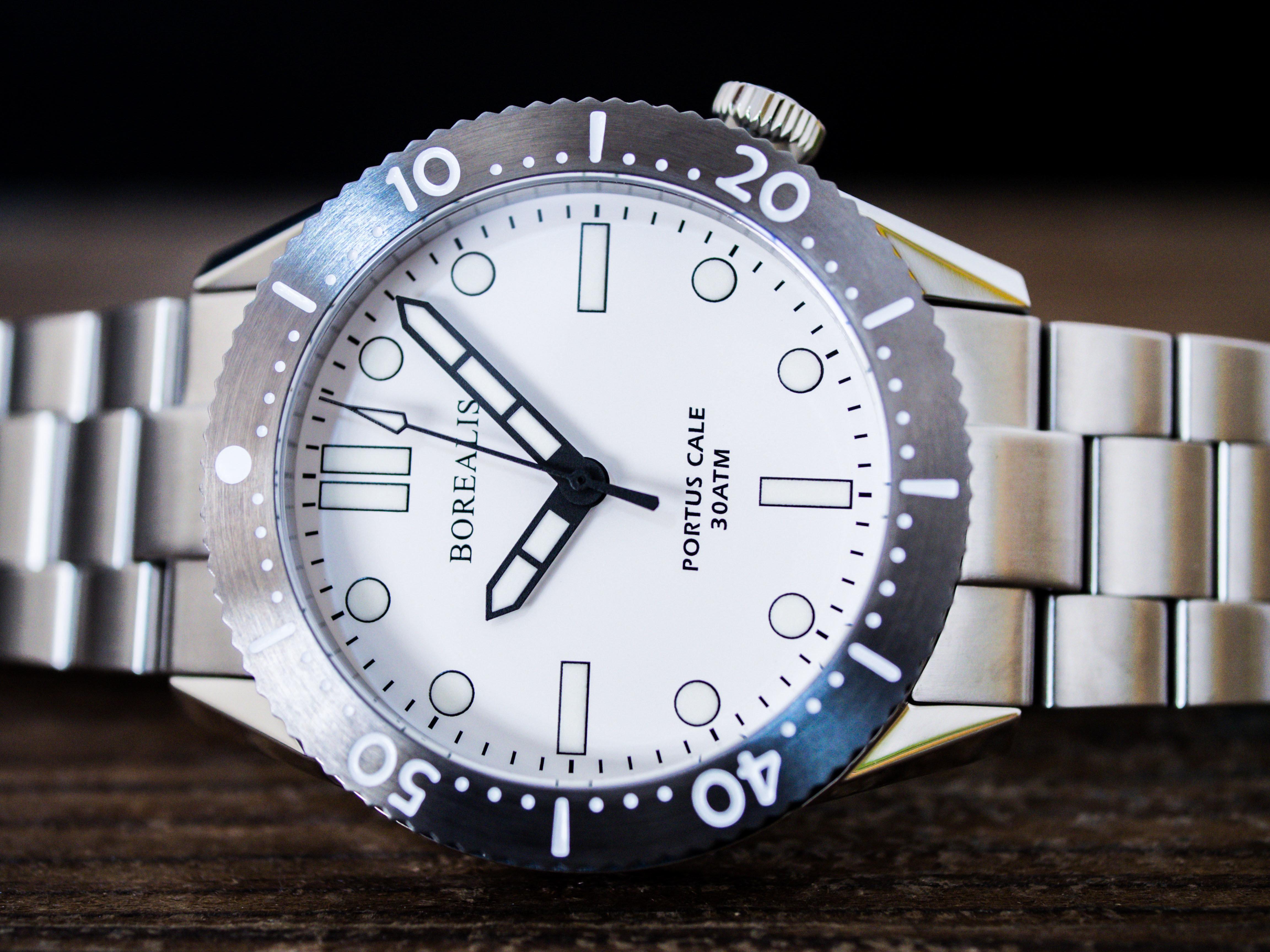 Borealis Portus Cale White Version A1 Dial SLWL No Date