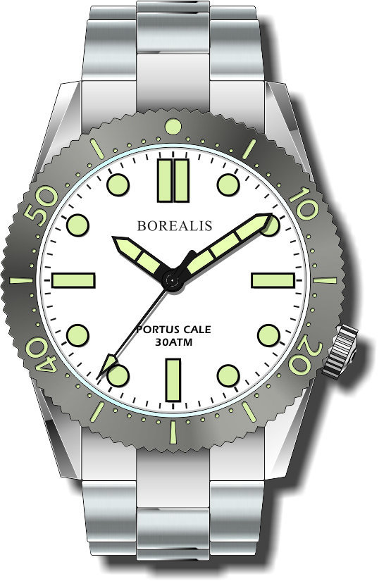 Pre-Order Borealis Portus Cale White Version B1 Dial C3X1 No Date BPCWHITEBB1ND