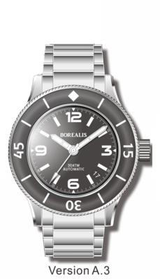 Pre-Order Borealis Sea Storm V2 Black Dial Version A.A3 Date BGW9 Lume