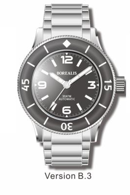Pre-Order Borealis Sea Storm V2 Black Dial Version A.B3 No Date BGW9 Lume