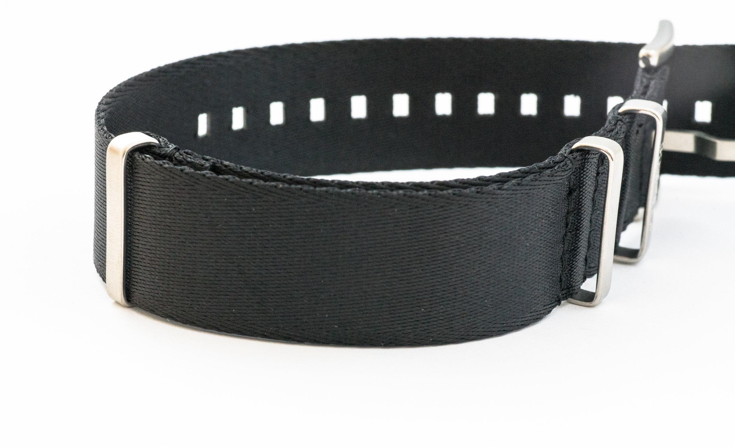 Borealis premium Nato style seatbelt 1.2mm nylon weave strap 20mm size black