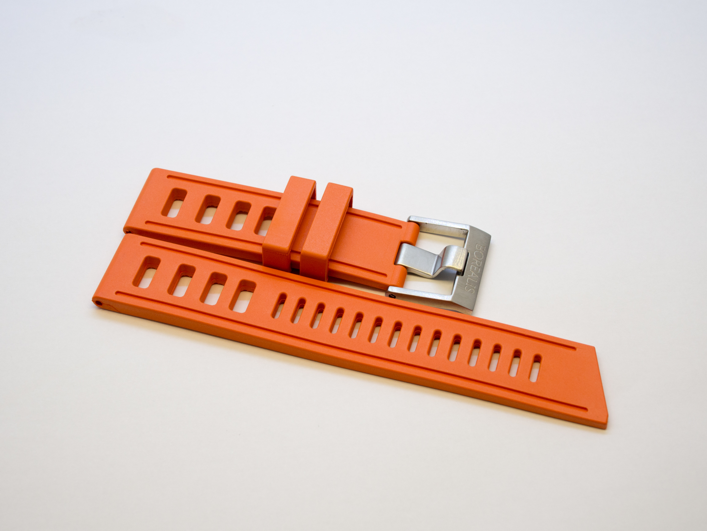 New product Duplicate    Borealis Rubber Strap 22mm Orange