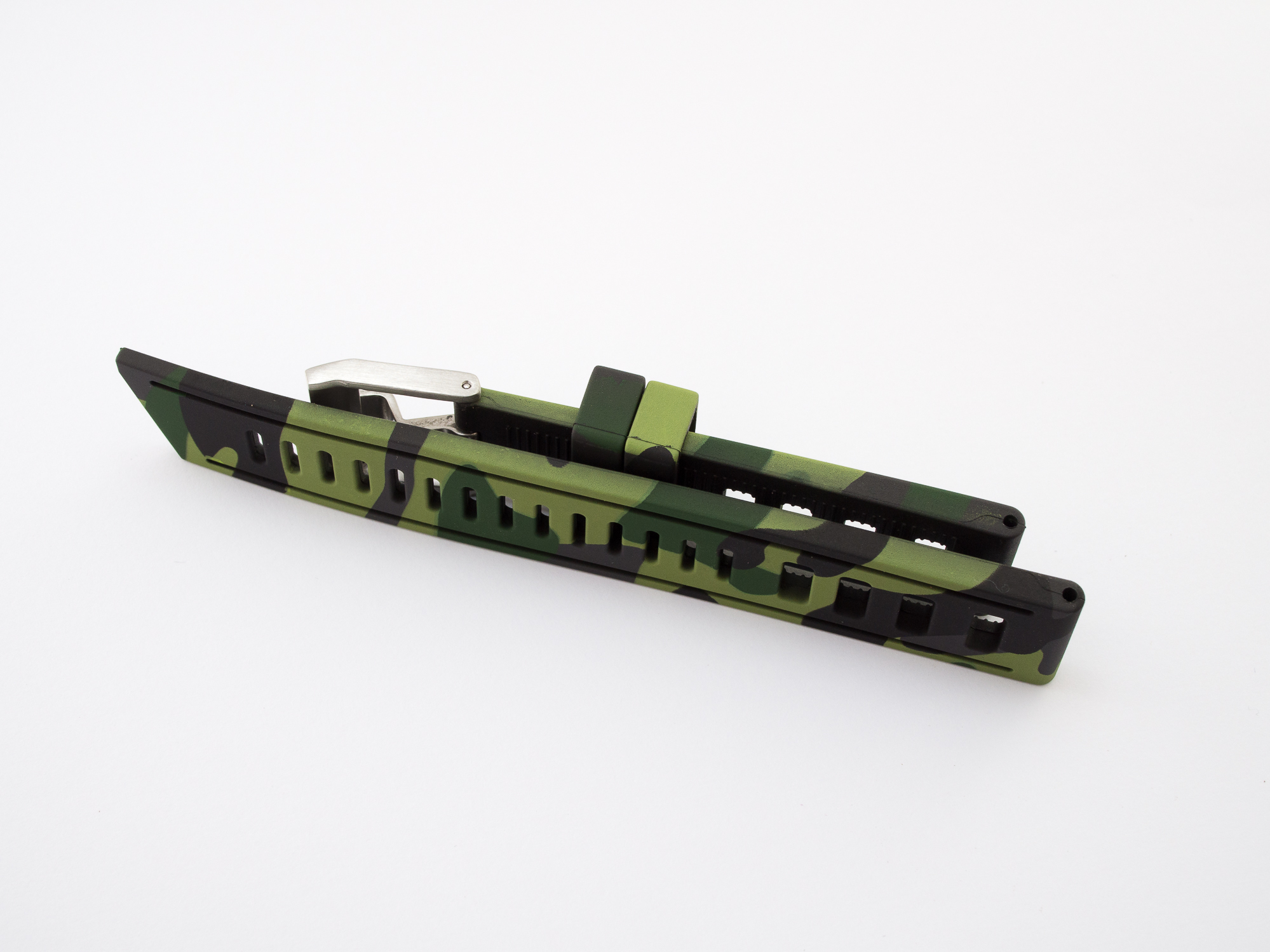 Borealis Vulcanized Rubber Strap 22mm Jungle Camo Strap - Best Offer in Market for Diver Watches