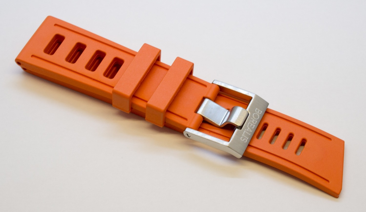 Borealis Vulcanized Rubber Strap 24mm Orange - Best Offer in Market for Diver Watches