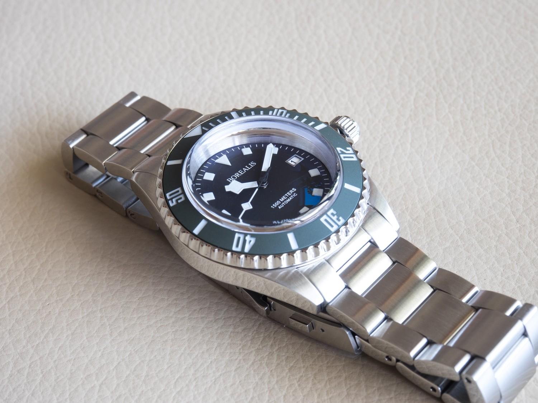 Borealis Sea Hawk 1500m Automatic Diver Watch Seiko NH36 / 4R36 Ceramic Green Bezel Black Dial