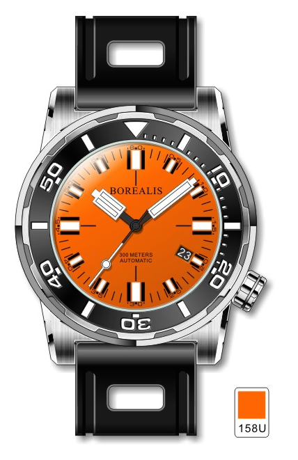 Borealis Sea Dragon Orange Dial Miyota 9015 Automatic Diver Watch 300m