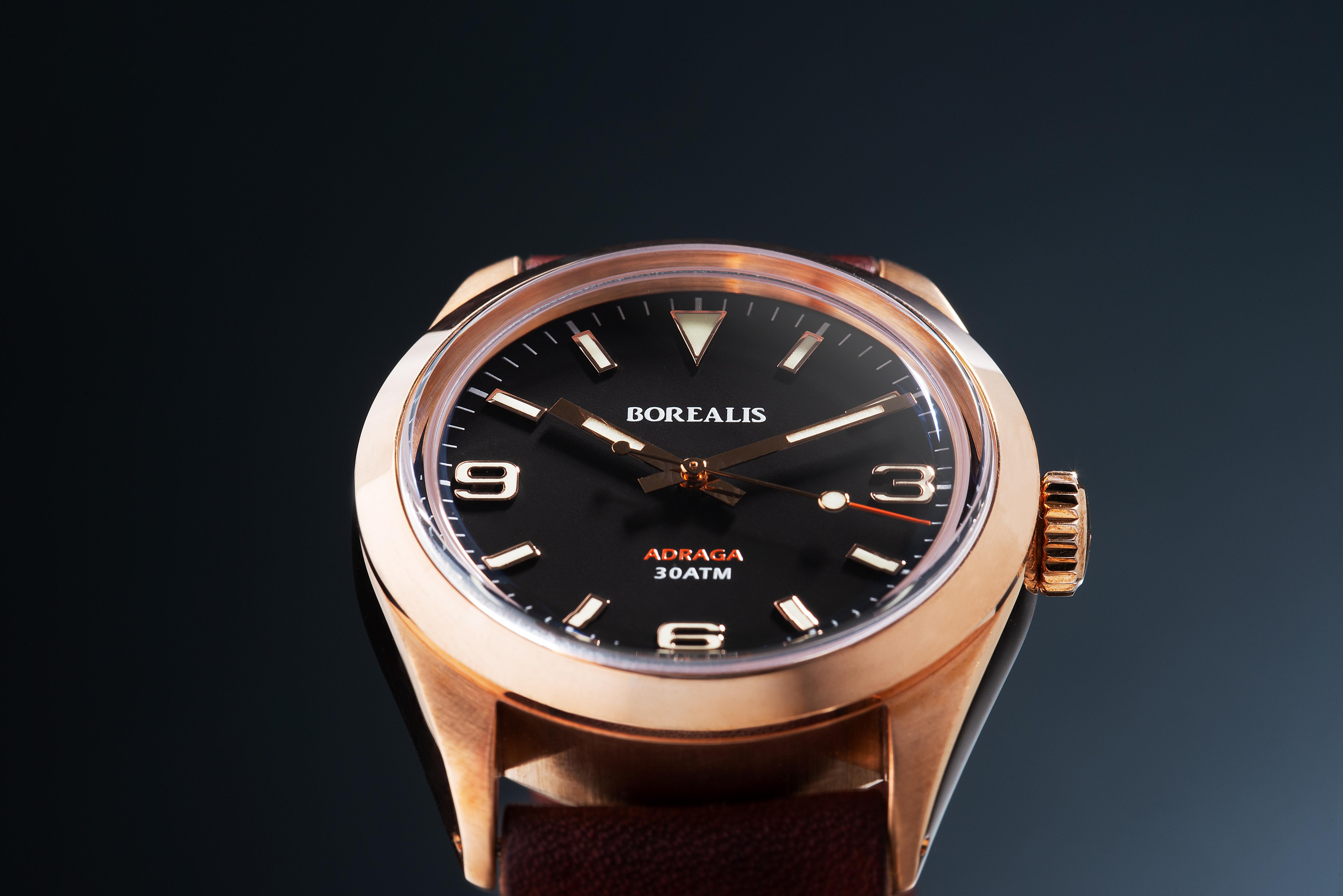 Borealis Adraga Bronze CuSn8 NH38 movement Type B C3X1 Lume