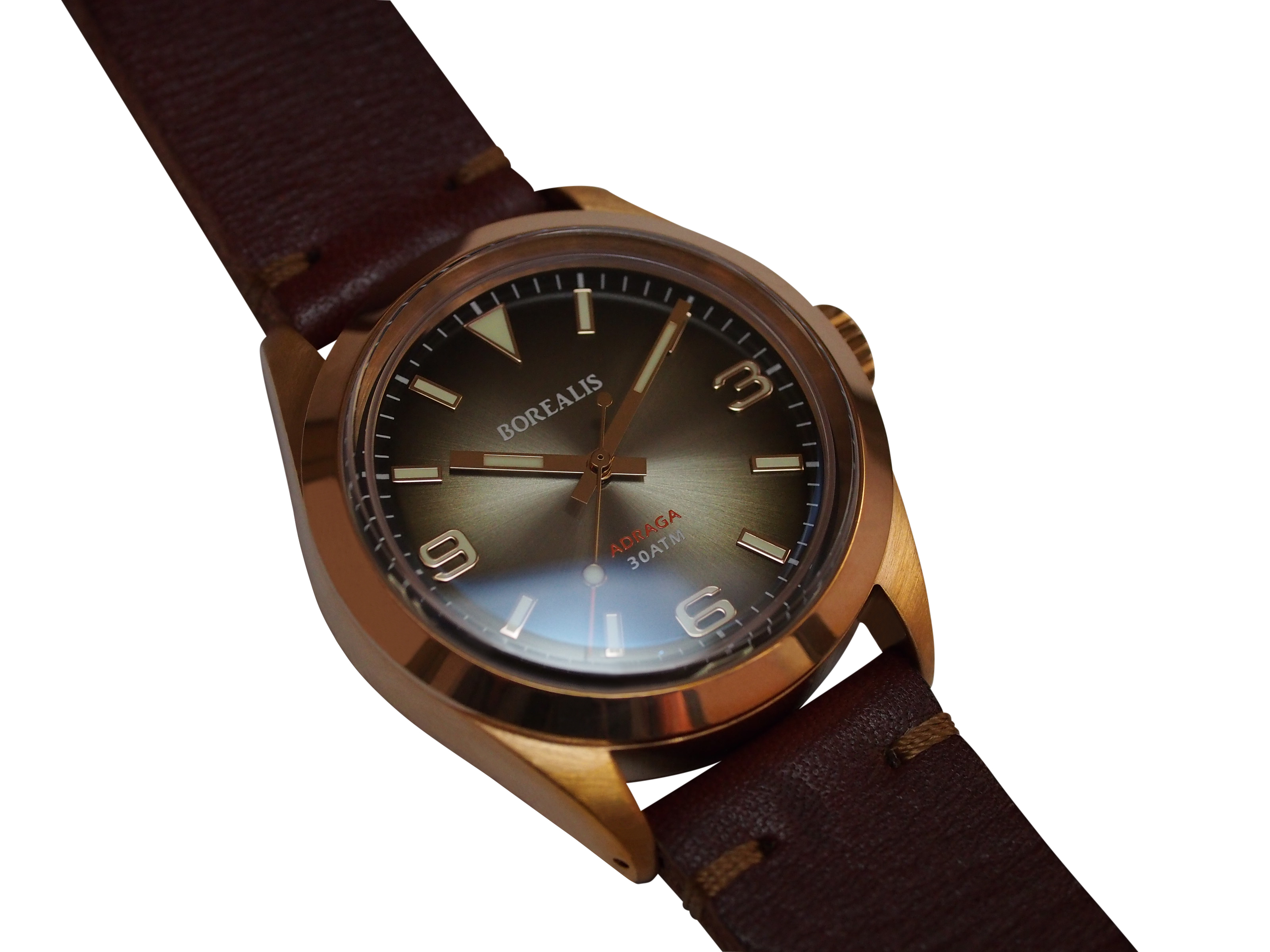 Borealis Adraga Bronze CuSn8 NH38 movement Type D C3X1 Lume