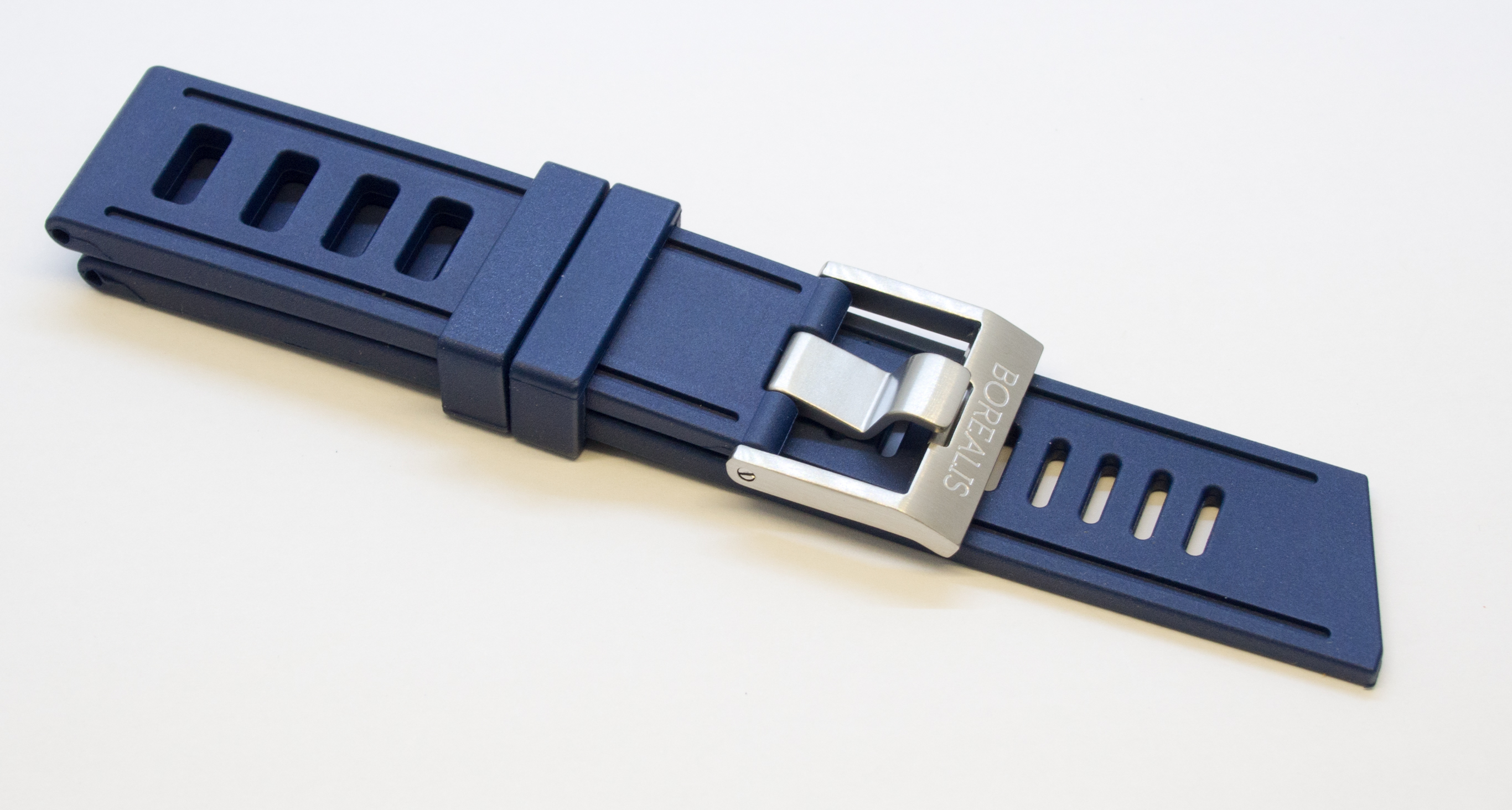 Borealis Vulcanized 24mm Rubber Strap Blue