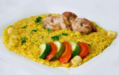 Shrimp & Scallop Saffron Risotto
