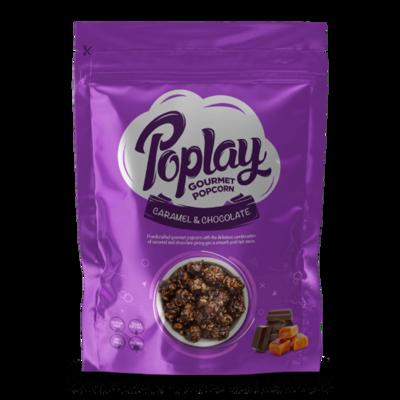 Poplay Caramel Chocolate Gourmet Popcorn (12 Packs)