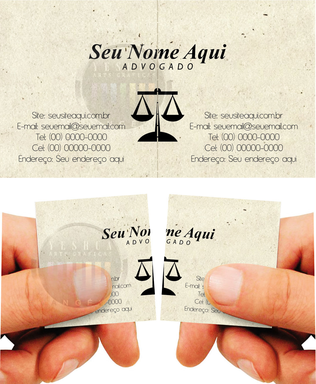 Populares Modelo N580 - Cartão de Visita Advogado WI03