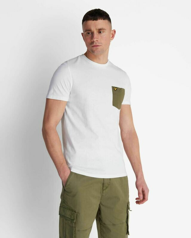 Lyle & Scott | Contrast Pocket T Shirt - White Green