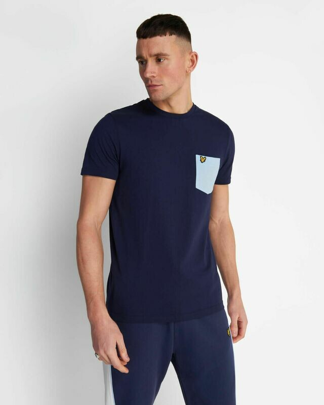 Lyle & Scott | Contrast Pocket T Shirt - Navy / Pool Blue