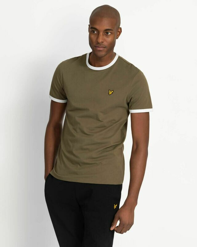 Lyle & Scott | Ringer T-Shirt - Light Green - White