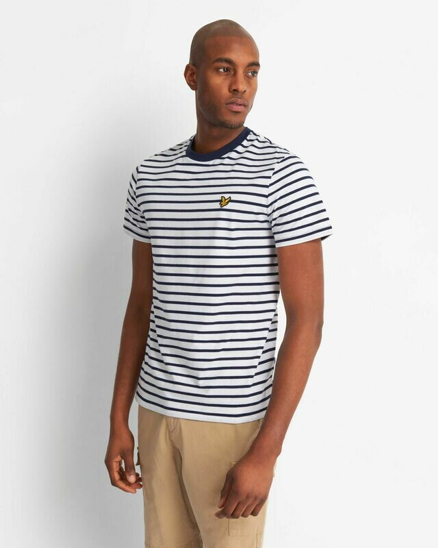 Lyle & Scott | Breton Stripe T-Shirt - Navy White