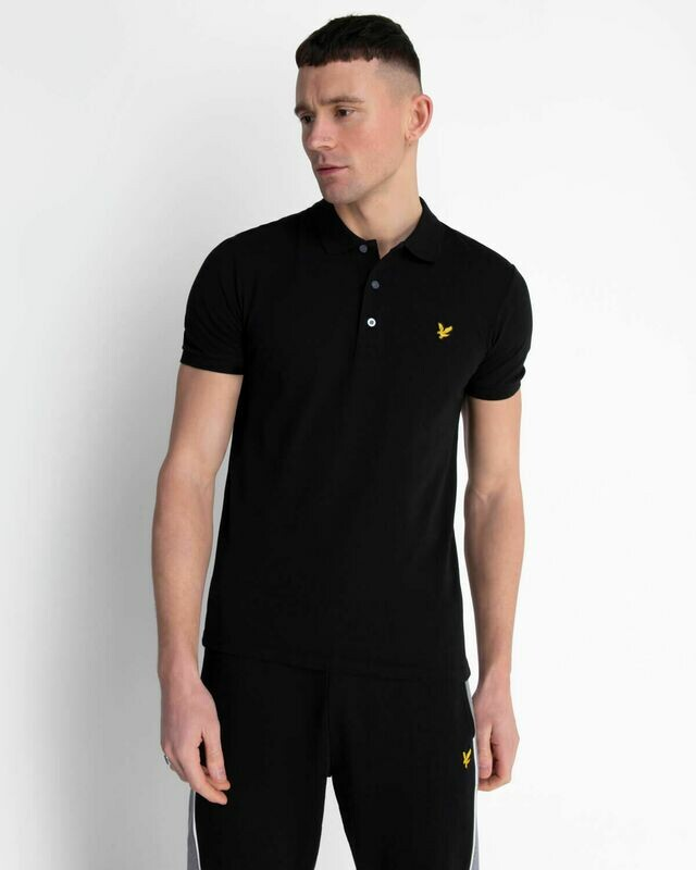 Lyle & Scott | Slim Stretch Polo Shirt -Jet Black