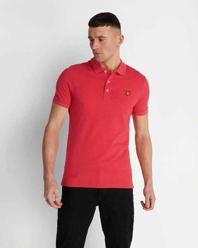 Lyle & Scott | Slim Stretch Polo Shirt - Geranium Pink