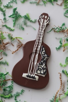 Hand Poured Chocolate Guitar
