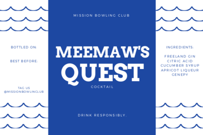Meemaw's Quest (single cocktail)